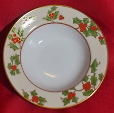 """FITZ & FLOYD """"CHRISTMAS HOLLY"""" china pattern ~Cereal Bowl 8""""~"""