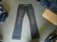 "Lee Cooper Bootcut Jeans Size 12L Leg 35"" Black Faded Ladies Jeans"