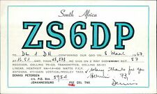 ZS6DP Dennis Petersen. Johannesburg. 1967 - DL1DH JD.906