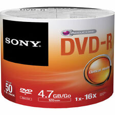 50 Sony Blank DVD-R 16X 4.7GB full hub Printable not TDK LG Pioneer APC