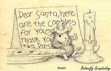HOUSE MOUSE Christmas Santa Cookies Wood Mounted Rubber Stamp STAMPENDOUS HMP18