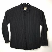 Buckle BKE Black Shirt Mens XXL Athletic Fit Long Sleeve Button Front Cotton