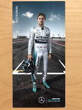 Nico Rosberg Ak Formule 1 AMG Petronas Carte Autographe Original Drucksigniert