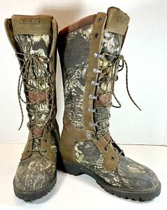 Rocky Mens Low Country 16 inch Waterproof 4500 Snake Boots Camo Size 8 MW