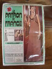 PATRON VINTAGE MODES ET TRAVAUX ROBE DE SOIREE COURTE/LONGUE 38 AU 50 N 225