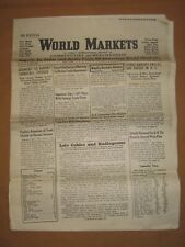 World markets a weekly international review of commodities and merchandise,1948
