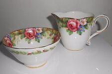 "Paragon ""Tapestry Rose"" Creamer and Open Sugar Bowl Vintage China England"