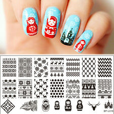Nagel Schablone BORN PRETTY L018 Nail Art Stamp Stamping Template Plates
