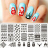 BORN PRETTY Nagel Stamp Schablone Nail Art Stamping Template Plates L018