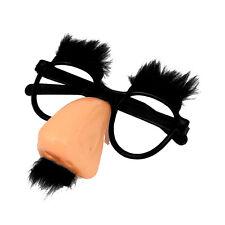 Runde Brille mit rosa Nase und schwarzem Schnurrbart zu Koralle Clown ET