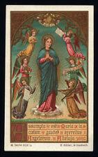 antico santino cromo-holy card MARIA ASSUNTA 2