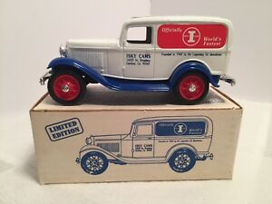 ERTL ISKY CAMS 1932 FORD DELIVERY VAN DIECAST COIN BANK  #9422UP 1:25 Diecast