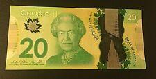 2012--20 DOLLARS  CANADA   .ELIZABETH II. BANKNOTE.  DIFFERENT SERIAL NUMBERS.