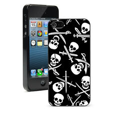 For iPhone X SE 5 5S 6 6s 7 8 Plus Hard Case Cover 967 Jolly Roger Pirate Skulls