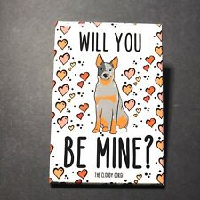 Australian Cattle Dog Valentines Day Magnet Dog Gifts and Kitchen Home Decor