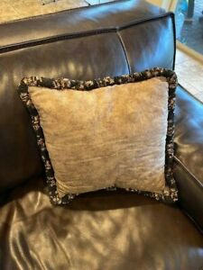 Animal Print Decorative Throw Pillow for Couch Sofa Bed Bedding - Brown Beige