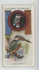 1933 Player's Boy Scout & Girl Guide Tobacco Base #35 Kingfisher Card 0w6