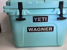 Personalized Name tag Graphics on Your Yeti cooler Black & Brushed Chrome Vinyl