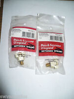 Pass & Seymour RFCINT-I Recessed Self-Terminating F Connector,Ivory,Lot of 2,New