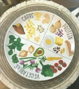 Big Portion plate white healthy eating ceramic microwave and dishwasher safe