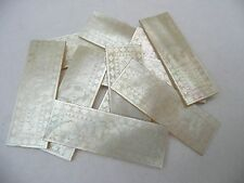 SUPERB ANTIQUE 10 CHINESE CARVED MOTHER OF PEARL GAMING COUNTERS CHIPS TOKENS