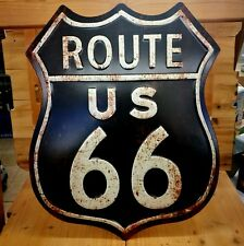 Blechschild Route 66  geprägt ca. 50 x 40 cm USA Garage Biker used look retro