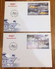 Iceland Post Official Illustrated FDC 2003.04.23. Ferries Boats Ships - Panes
