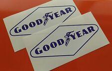 2 goodyear bleu & blanc en forme de losange autocollants 210mm paire F1