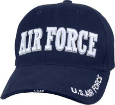 Navy Blue / White US Air Force Hat Adjustable Military Ball Cap USAF Embroidered