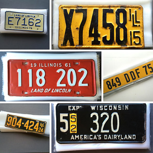 License Plate Sleeves 4 mil Thick Poly Bags Many Sizes Vtg Tag Storage Protect