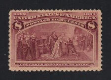 US #236 Mint NG 8c Columbian - Mint, No Gum (MNG) Nicely-centered - Scott $52