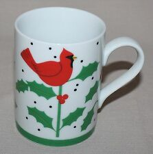 Department Dept 56 Boughs of Holly White Mug Cardinals Christmas Winter