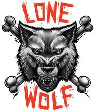 """BGR"" Temporary Tattoo, Lone Wolf & Crossbones, USA Made"