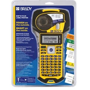 Brady BMP21-PLUS Handheld Label Printer with Rubber Bumpers, Multi-Line Print, 6
