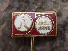 Tesla Brno Microscopes & Scientific Instruments Plant 25th Anniversary Pin Badge