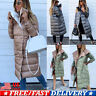 Women Parka Quilted Coat Fur Hooded Ladies Casual Puffer Winter Warm Long Jacket