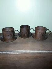 Set of 3 Punched Tin Tealight Candle Holders