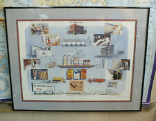 VINTAGE SIGNED ELI LILLY PHARMACEUTICALS PICTURE PRINT