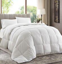 """White Down Alternative Comforter Duvet Insert California King 104x96"""" Corner Tab"""