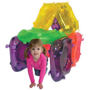 Eduk8 Inflatable Aerobloks Building Game - Kids Children's Bouncy Castle Chair