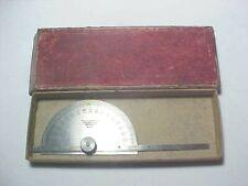 "Vintage Starrett 493 Protractor W/ 6"" Depth Gage"