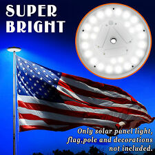 Solar Powered 26 LED Flag Pole Light Night Super Bright Powerful Flagpole Light