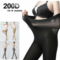 Hot 200D Elastic Plus Size Tights Warm Winter Thermal Velvet Pantyhose Stocking