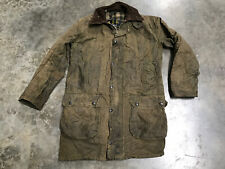 barbour border wax jacket 36 Inch Chest Green
