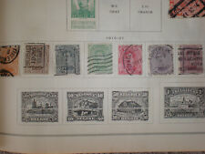 (Lot of 7) 1915-21 Belgium Belgique Belgie 1c to 20c Used Hinged Stamps