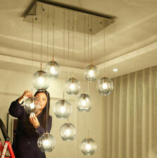 Dining Room Glass Chandelier Lamp Island Living Room Ceiling Drops Light Fixture