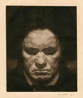 RICHARD POKORNY, 'BEETHOVEN', signed etching, c. 1930.