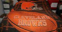 VTG Cleveland Browns NFL Twin Comforter Blanket Dawg Brown Orange Mayfield OBJ