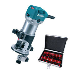 "Makita RT0700CX4 1/4"" Router / Laminate Trimmer 240V with 12 Piece Cutter Set"
