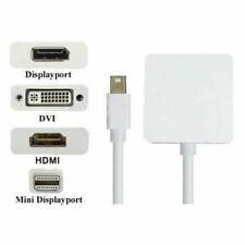 3in1 Mini Displayport DP To HDMI DVI VGA Adapter Cable Fr MacBook Air Pro Mac P